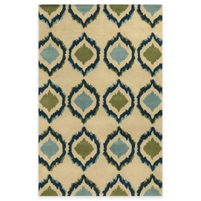 Rizzy Home Bradberry Downs Ikat Tile 3-Foot x 5-Foot Area Rug in Ivory