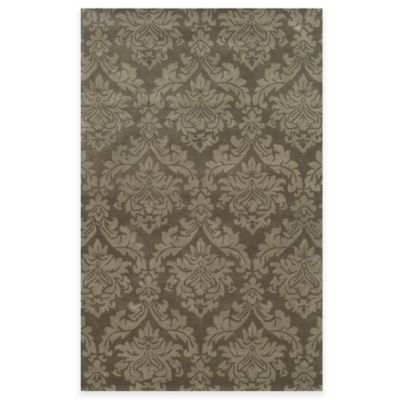 Rizzy Home Bradberry Downs Ornate Damask 2-Foot x 3-Foot Accent Rug in Brown
