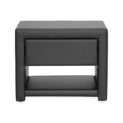 Baxton Studio Massey Upholstered Modern Nightstand in Black