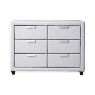 Baxton Studio Pageant Contemporary Upholstered Dresser in White