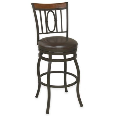 Monroe 30-Inch Flared Leg Swivel Barstool in Bronze