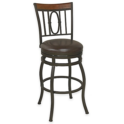 Buy Monroe 24 Inch Flared Leg Swivel Counter Stool In