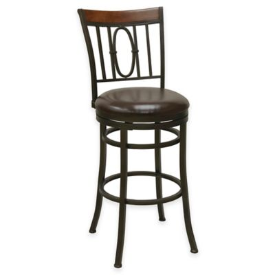 Monroe 25-Inch Straight Leg Swivel Counter Stool in Bronze