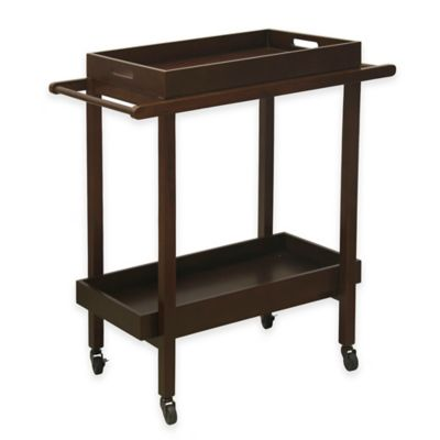 Darcey Wooden Serving Cart