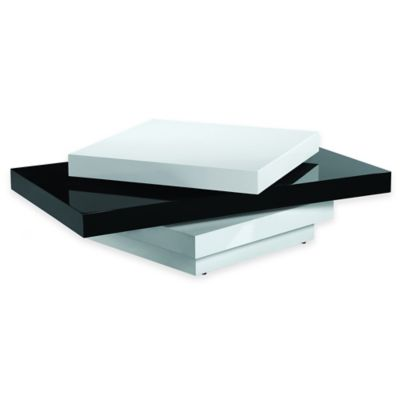 Urban Oasis Fai Swivel Coffee Table in Black/White