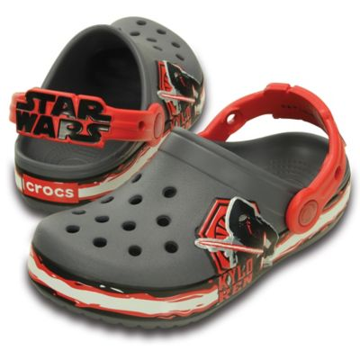 Crocs™ Star Wars™ Size 4-5 Kids' Special Edition Kylo Ren™ Villain Clog in Black