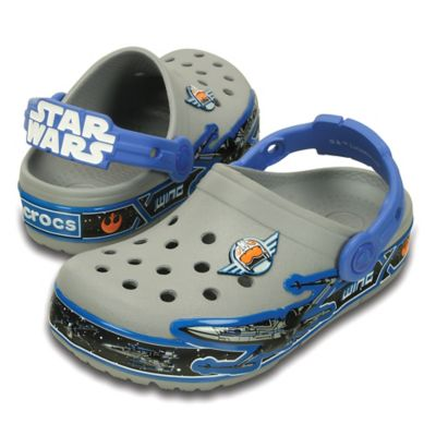 Crocs™ Crocslights Star Wars™ X-Wing Size 6 Kids' Clog in Grey