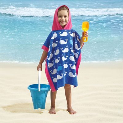All Over Whale Kids Hooded Towel