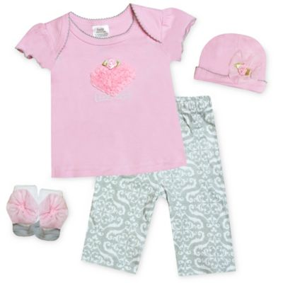Baby Essentials 4-Piece Little Cutie Set