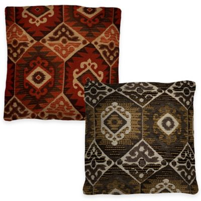 Menuetto Square Throw Pillow in Flame
