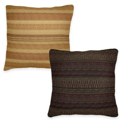 Zebulon Square Throw Pillow in Rust