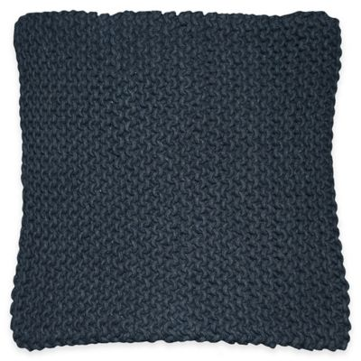 Marni Square Throw Pillow in Slate Blue