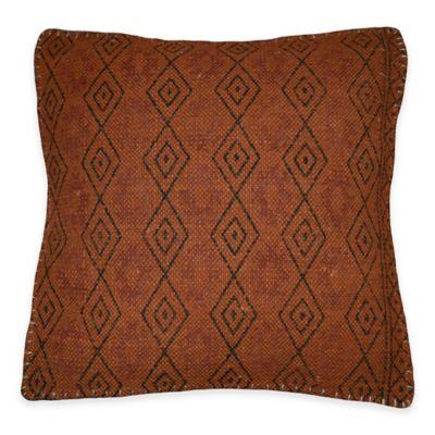 Ithaca Throw Pillow in Rust