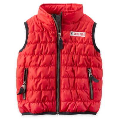 carter's® Size 18M Ripstop Puffer Vest in Red