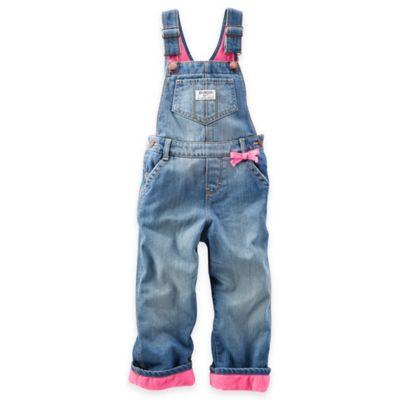 Oshkosh B'gosh® Size 3M Overall in Denim/Pink Fleece
