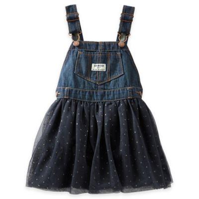 OshKosh B'gosh® Size 3M Denim and Sparkle Dot Tulle Skortall in Blue
