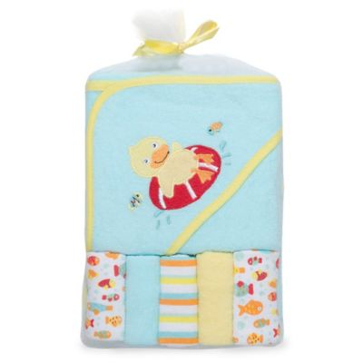 Aqua Towel and Washcloth Set