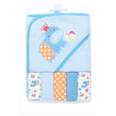 6-Piece Towel and Washcloth Set in Blue