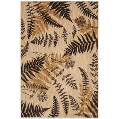Mohawk Home Blue Ridge Ferns 5-Foot 3-Inch x 7-Foot 9-Inch Area Rug in Light Camel