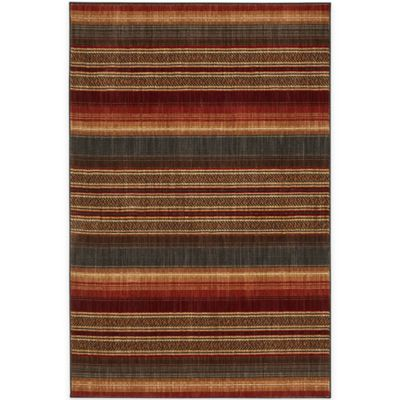 Mohawk Home Canoe Blanket 5-Foot 3-Inch x 7-Foot 9-Inch Area Rug in Multicolor