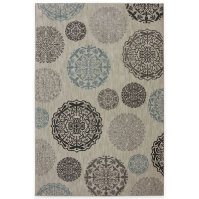 Mohawk Home Dragonfly Medallion 5-Foot 3-Inch x 7-Foot 9-Inch Area Rug in Abyss Blue