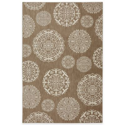 Mohawk Home Dragonfly Medallion 8-Foot x 10-Foot Area Rug in Cornstalk