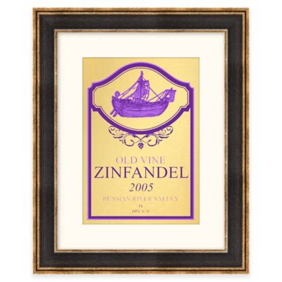 Zinfandel Wine Label Framed Wall Art