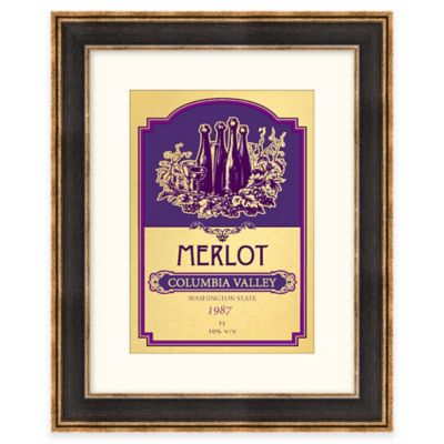 Merlot Wine Label Framed Wall Art