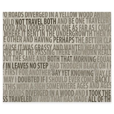 Two Roads Canvas Wall Art