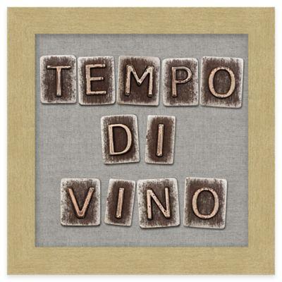 "Typography ""Tempo di Vino"" Framed Wall Art"