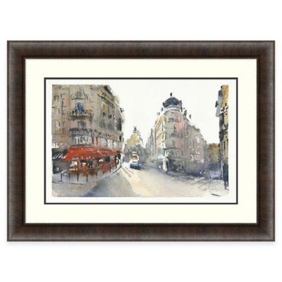 Parisian Rue Montmarte Framed Wall Art