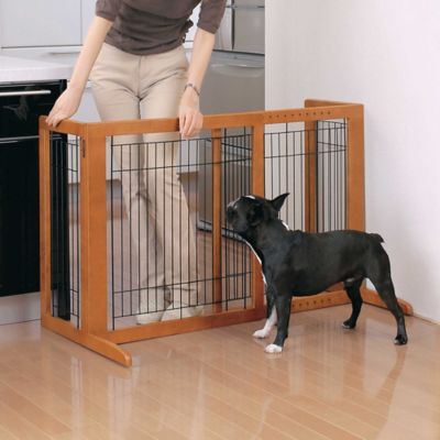 Freestanding Pet Gate in White