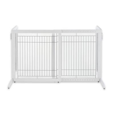 Freestanding Pet Gate in White