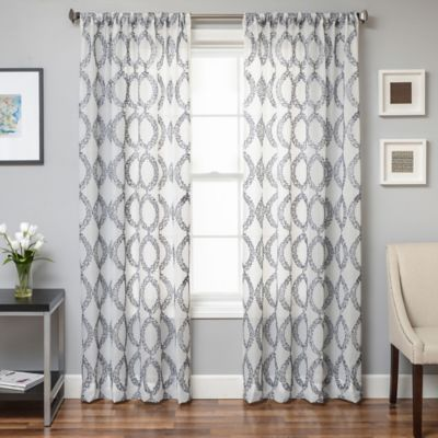 Camelot 63-Inch Sheer Window Curtain Panel in White