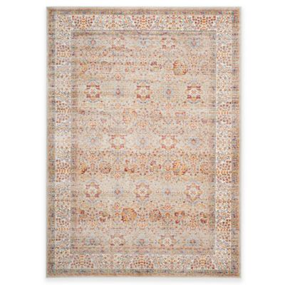 Safavieh Sevilla Border 5-Foot 3-Inch x 7-Foot 6-Inch Area Rug in Silver/Multicolor