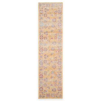Safavieh Sevilla Medallion Border 2-Foot 1-Inch x 8-Foot Runner in Gold/Multicolor