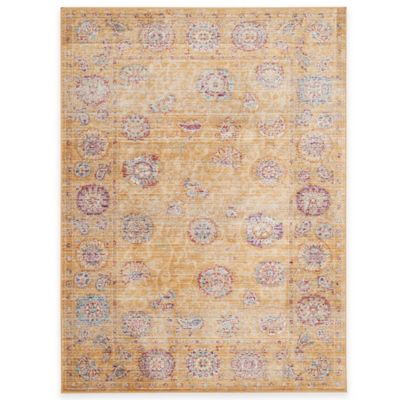 Safavieh Sevilla Medallion Border 4-Foot x 5-Foot 7-Inch Area Rug in Light Blue