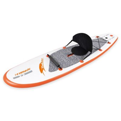 Inflatable Stand Up Paddle Board Set in White/Orange