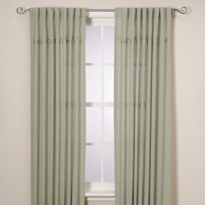 Chelsea 108-Inch Window Curtain Panel in Green