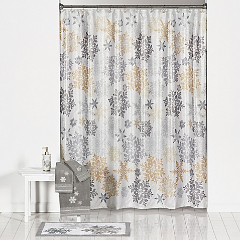 Snow Much Fun Shower Curtain And Hook Set Bed Bath Amp Beyond