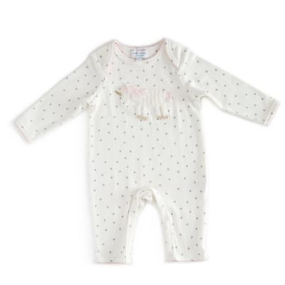 Little London by Albetta Size 6-9M Crocheted Star Unicorn Coverall in Ivory