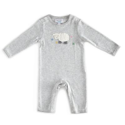 Little London by Albetta Size 0-3M Marled Sheep Coverall in Grey/White