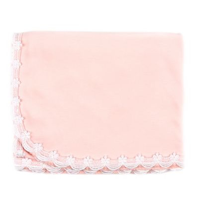 Sippy's Babe's® Scalloped Lace Blanket in Pink/White