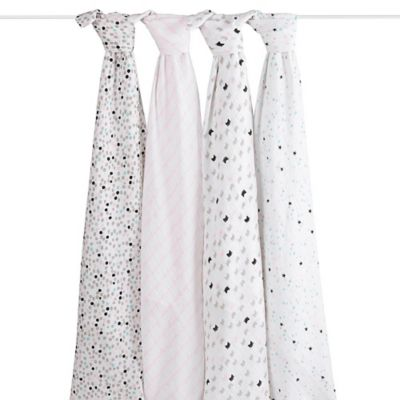 Rosie Pope by aden + anais® Cat 4-Pack Muslin Swaddle Blankets