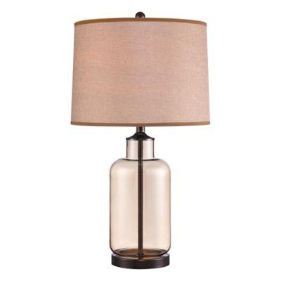 Illumina Direct Gavin Table Lamp in Black with Gold Highlights