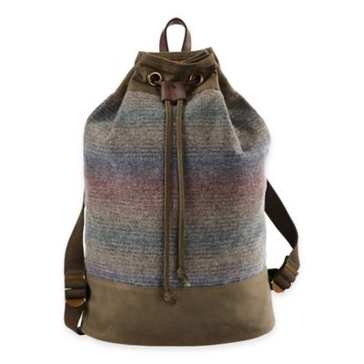 Pendleton® Twill Duffle Backpack in Yakima Camp Stripe