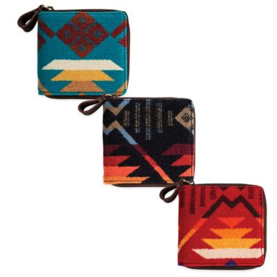 Pendleton® Small Zip Wallet in Coyote Butte Scarlet