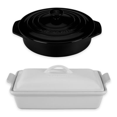 Le Creuset® 3.5 Quart Rectangular Covered Casserole in Black