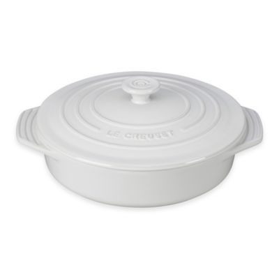 Le Creuset® 2.1 Round Covered Casserole in White