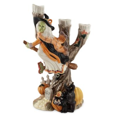 Fitz and Floyd Halloween Harvest Witch Candle Holder